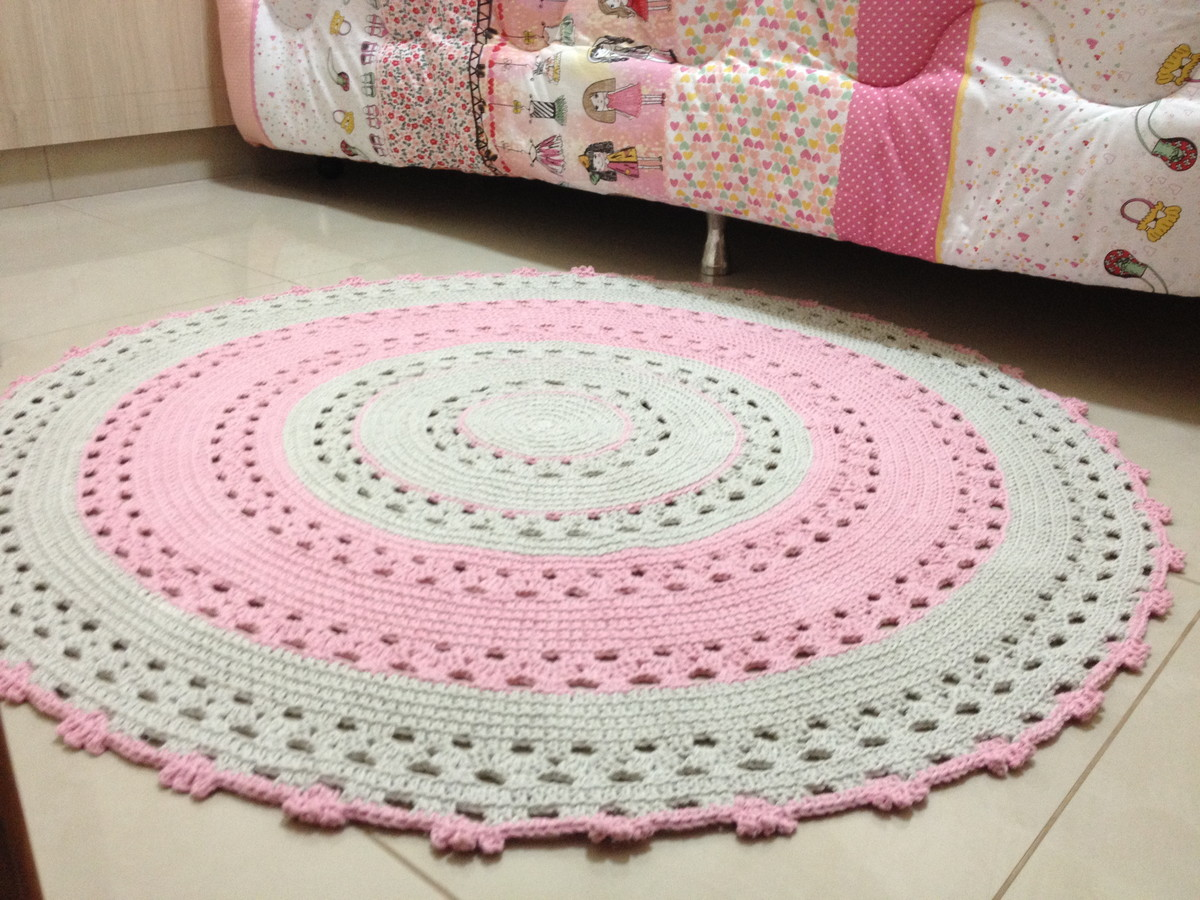 tapete de croch rosa baby betina ateli vera peixoto. Black Bedroom Furniture Sets. Home Design Ideas