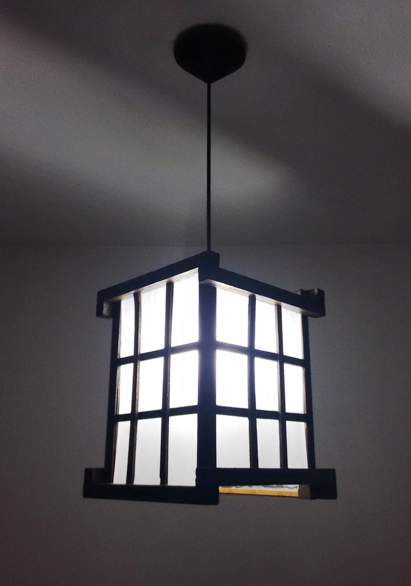 luminária de teto lustre japones treliça ROSELIARTLUZ Elo7