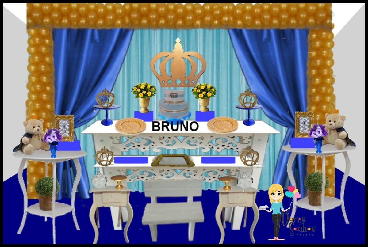 Decoraç u00e3o Provençal Realeza ou príncipe no Elo7 Atelier Doces Sonhos Festas By Vanessa  -> Decoração De Festa Infantil Realeza