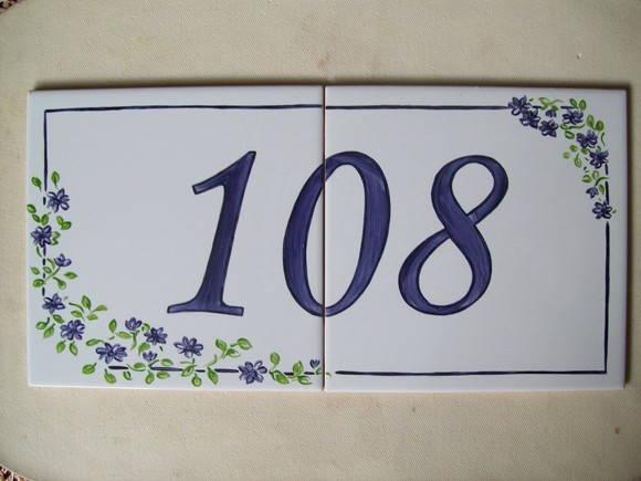 Numero para resid ncia em azulejo oficina 778 elo7 for Azulejo numero casa