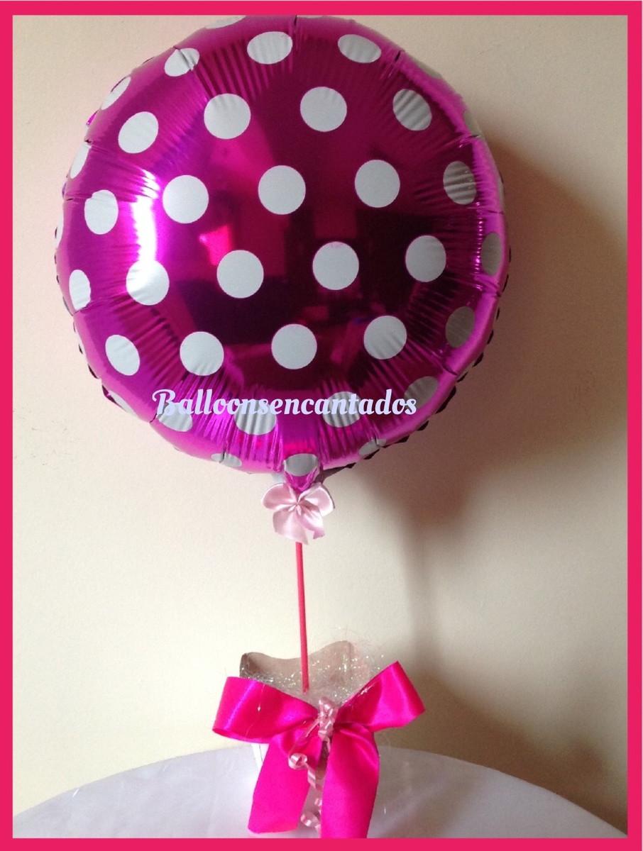 Enfeite De Balão ~ ENFEITE DE MESA BALÃO METALIZADO COM POÁ Balloonsencantados& Cia Elo7