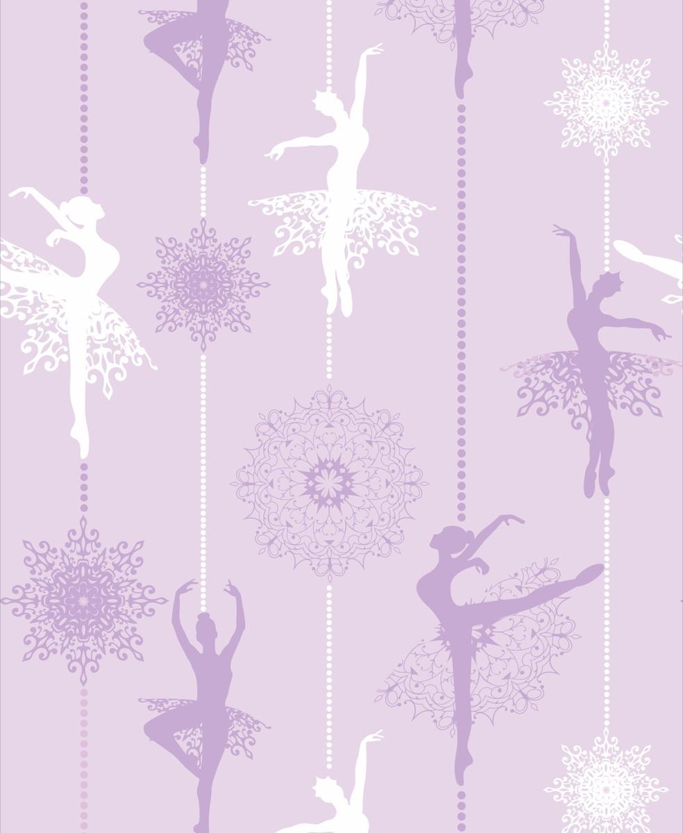 Papel de parede Bailarina Lilas  Crie Decore  Elo7
