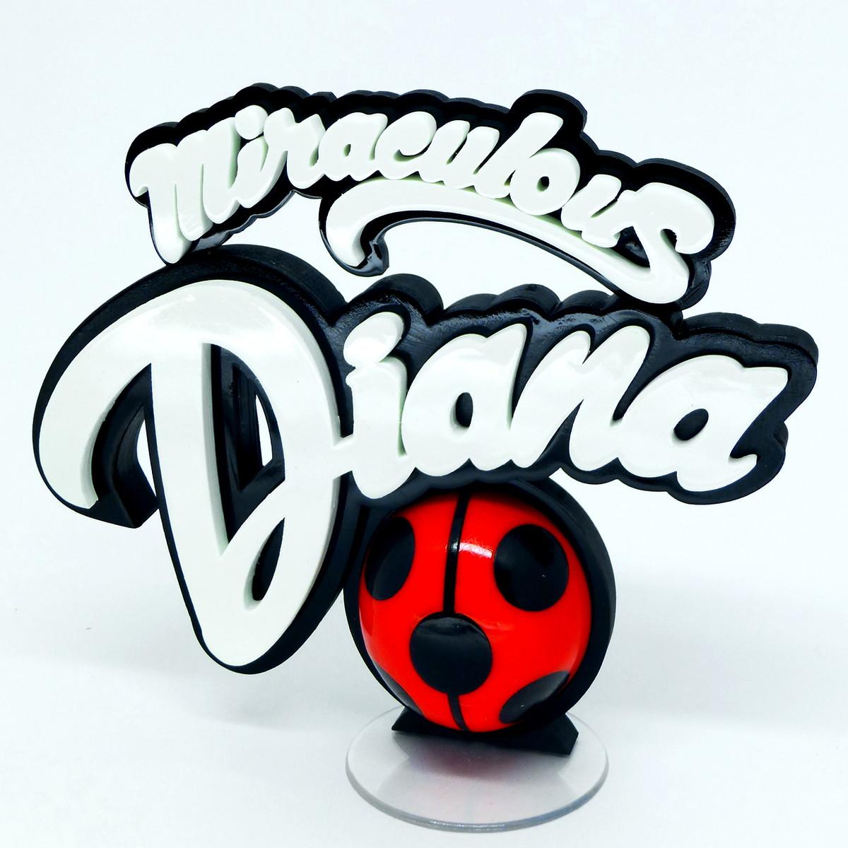 Miraculous Ladybug - Logo Personalizado | Impressione 3D ...