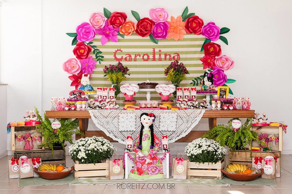 Flores de papel M Claudia Souza Atelie Elo7 # Decoração De Flores De Papel Para Aniversario