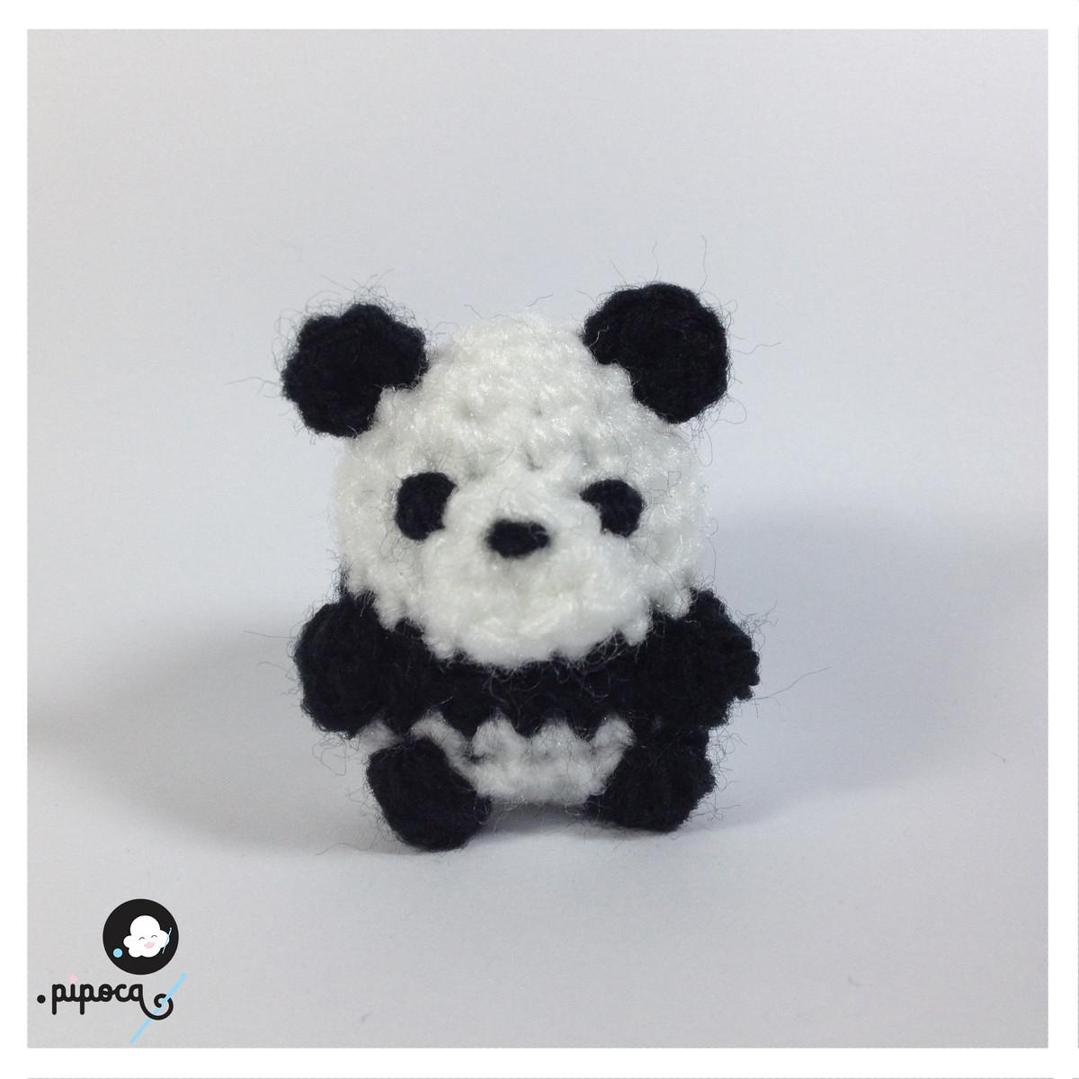 Urso Panda Ponto Pipoca Elo7