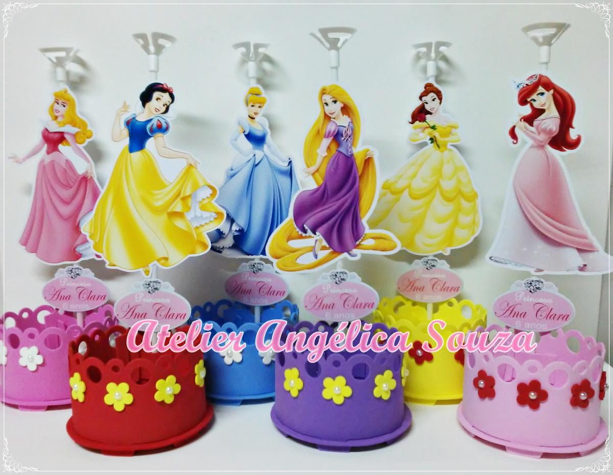 Centro de mesa princesas disney atelier ang lica souza - Mesas infantiles disney ...