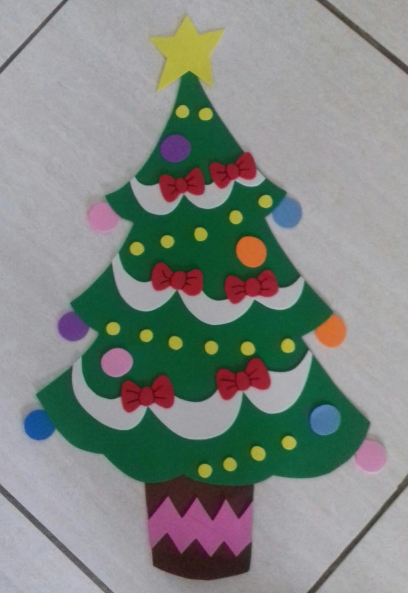 Árvore de natal decorativa em eva no Elo7 Arte da Brina (7912E4) -> Decoração Em Eva Natal