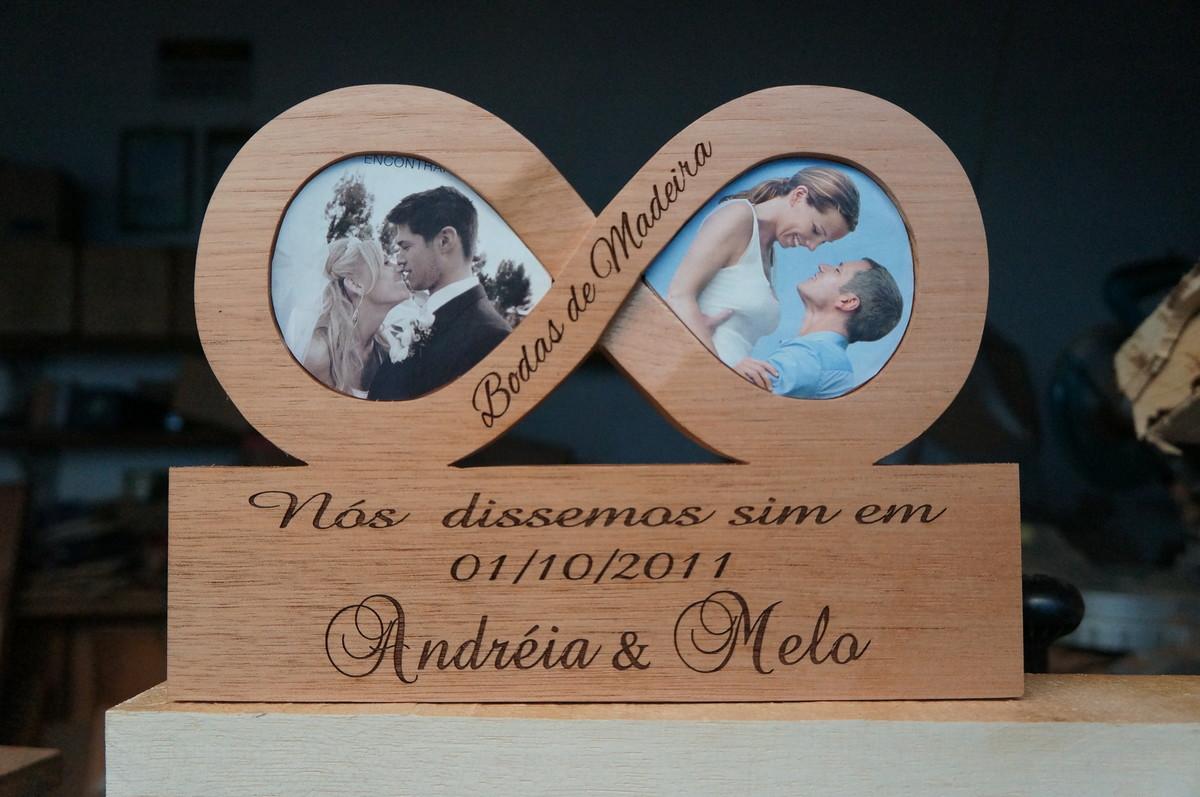 5 Anos De Casamento Bodas De: BUBULOVE ARTE EM MADEIRA (7CFB30