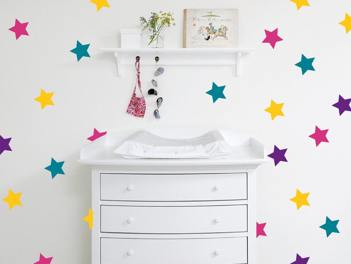 Armario De Cozinha Casas Bahia Pequeno ~ Adesivo estrelas coloridas no Elo7 Quarto de Criança Lojadecoreacasa (7D5498)