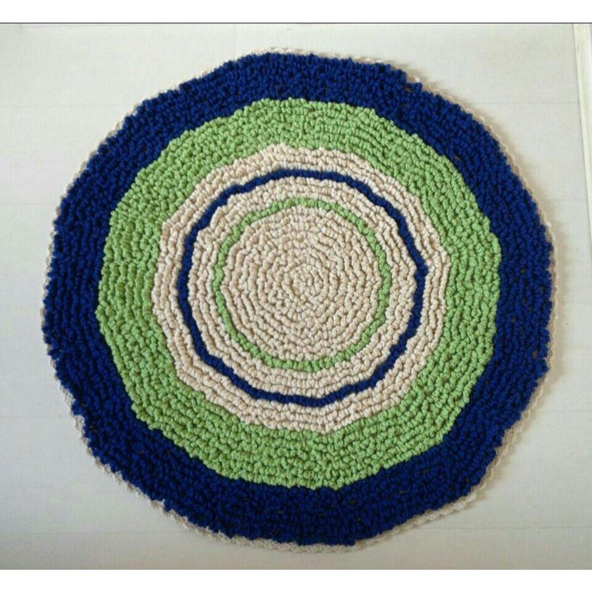 Tapete Fofinho Cru, Verde e Azul Royal Criativo e  ~ Tapete De Quarto Verde