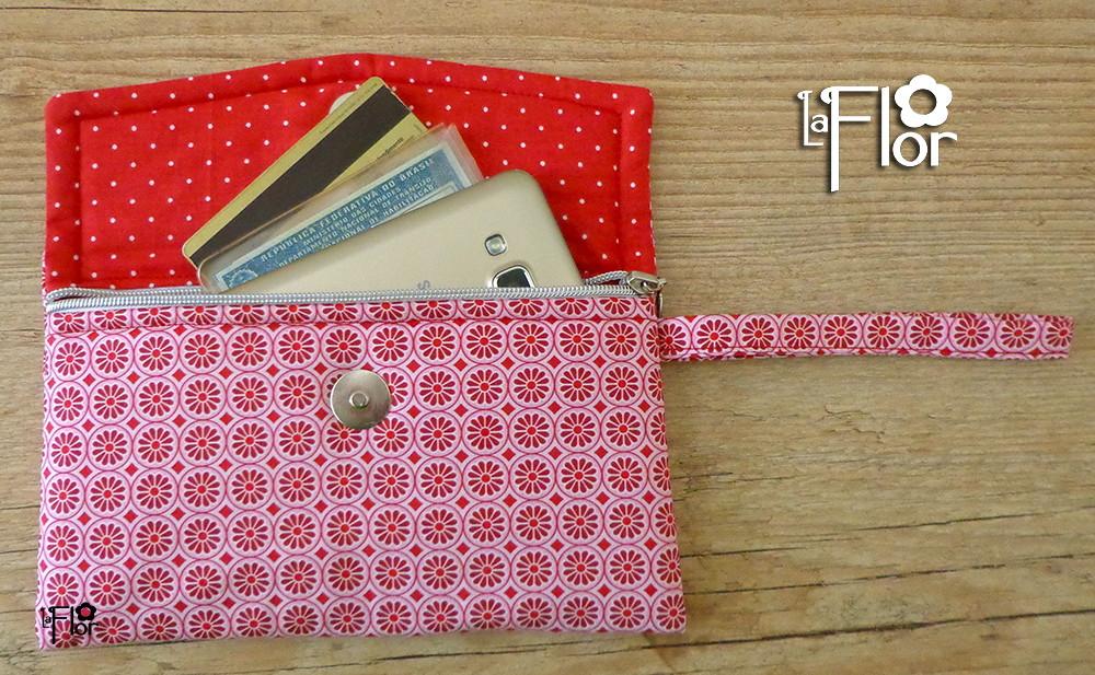 Bolsa De Mão Estilo Carteira : Carteira envelope la flor elo