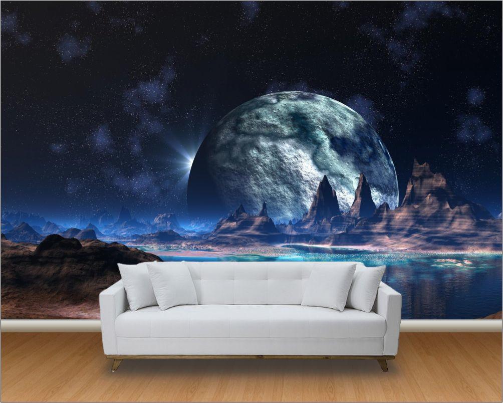 Papel de parede 3d universo m 0004 paredes decoradas - Papel pared 3d ...