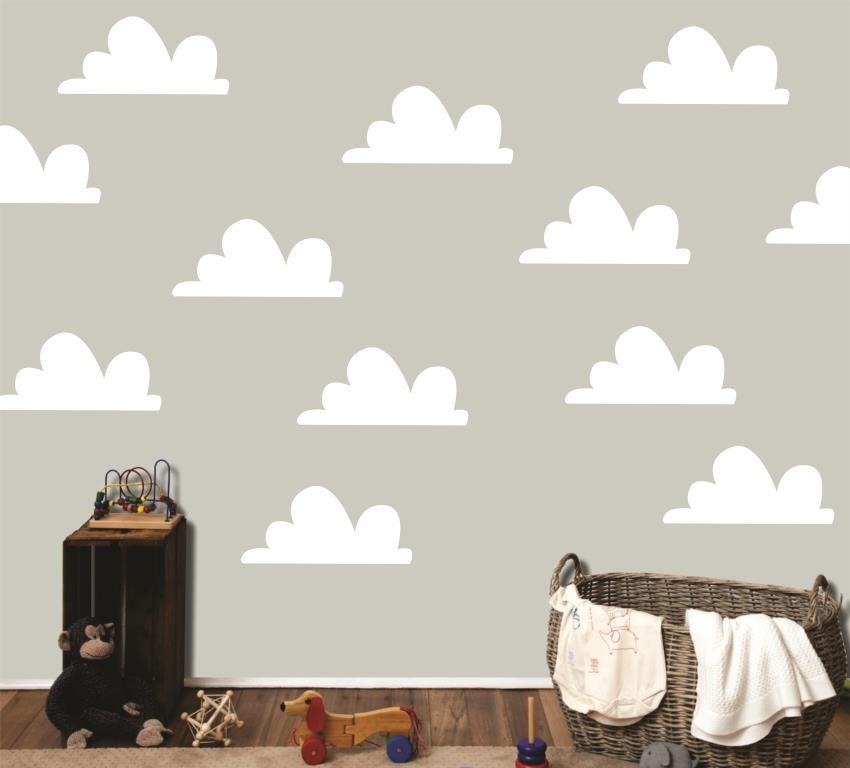 Armario Modulado Quarto Casas Bahia ~ Adesivo nuvens brancas Quarto de Criança Lojadecoreacasa Elo7