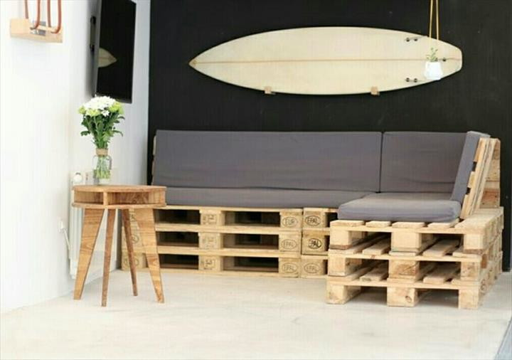sof de pallets pallets e design elo7. Black Bedroom Furniture Sets. Home Design Ideas