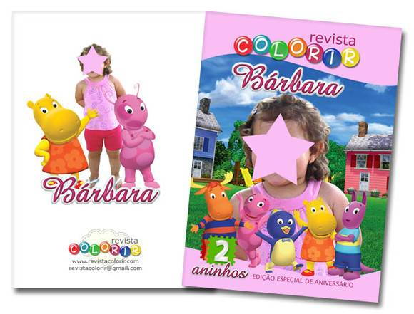 Revista Colorindo Com Backyardigans