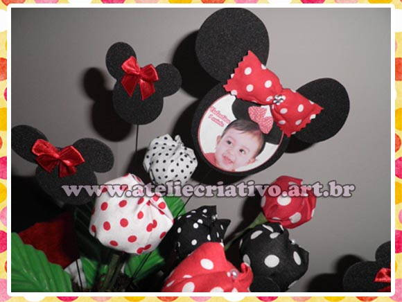 Enfeites de Mesa Minnie / Mickey