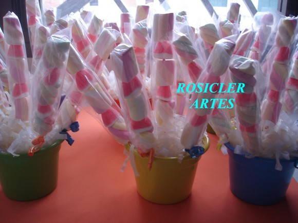 enfeite de mesa topi ria de marshmallow rosicler artes