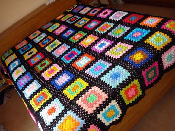 Colcha de Crochê Quadrados - Casal no Elo7   Carmela Arte & Cia (E95BA)