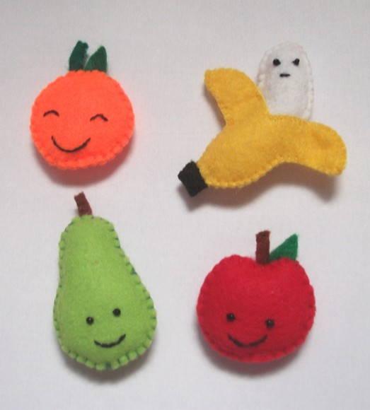 imas de geladeira frutinhas feltro kit 4 imas de geladeira frutinhas
