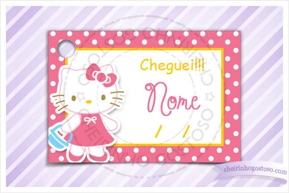 Cart�o - Tag  Maternidade - Hello Kitty