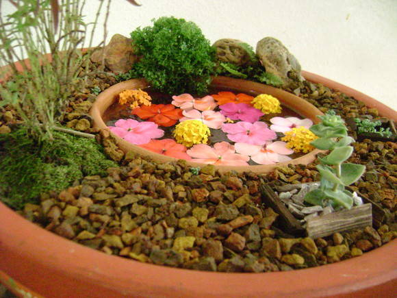 enfeites para jardim japones:jardim em bacia ceramica mini jardim em bacia ceramica mini jardim