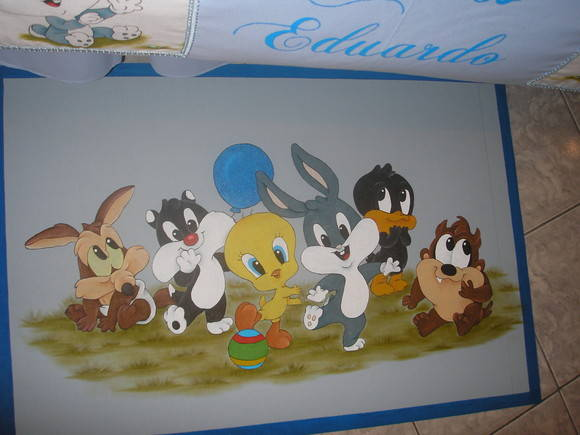 tapete looney tunes baby mundo criativo m nica fl via. Black Bedroom Furniture Sets. Home Design Ideas