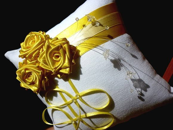 Porta-alian�as BOUQUET amarelo