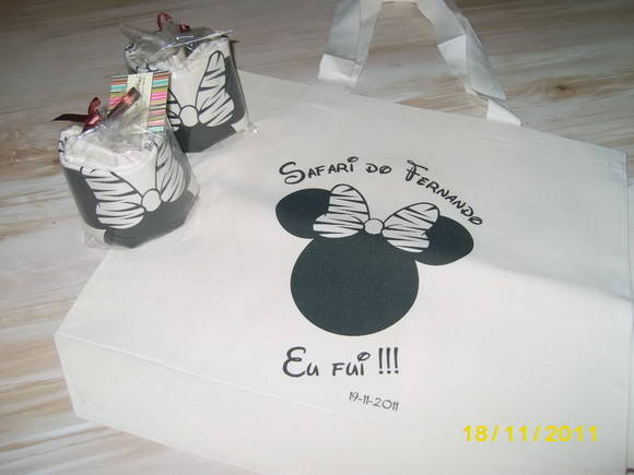 Ecobag Grande - Mickey e Minnie Safari