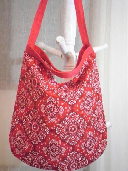 Bolsa De Tecido Com Alça De Bambu : Bolsa de tecido bandana com al?as d?bora costa elo