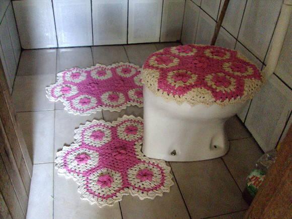 Jogo De Banheiro Verde E Branco : Jogo de banheiro pronta entrega artes da selma barbosa