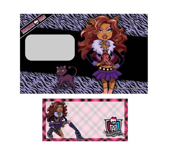 ETIQUETA MONSTER HIGH IMPRESS�O A LASER