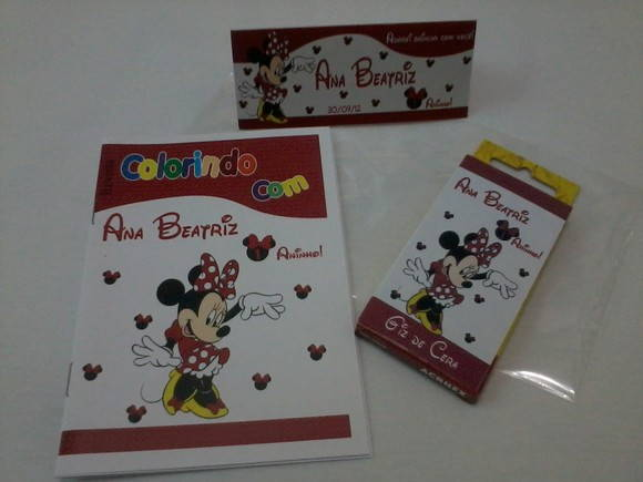 Kit Colorir Minnie