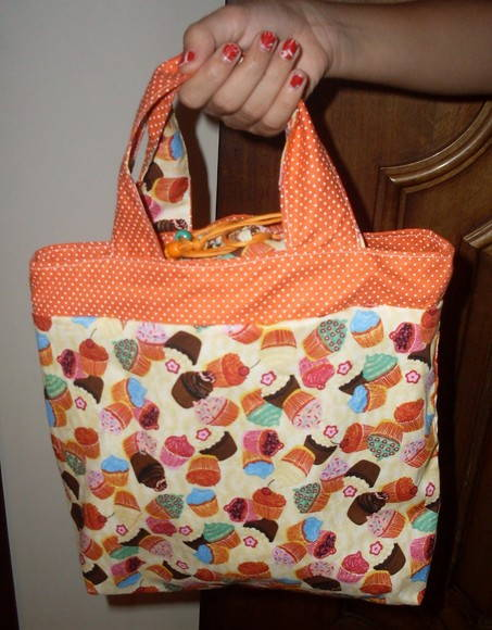 Lunch Bag cupcackes coloridos