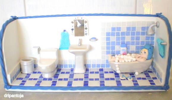 MINIATURA DE BANHEIRO  Adriana Pantoja  Ateliê  Elo7 -> Cuba Para Banheiro Zoom