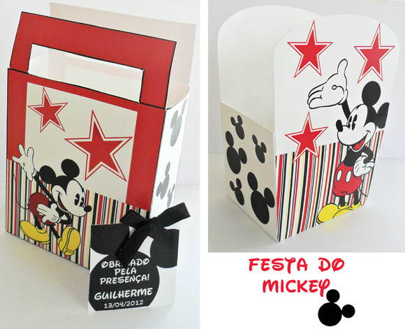 Kit Festa Personalizada do Mickey