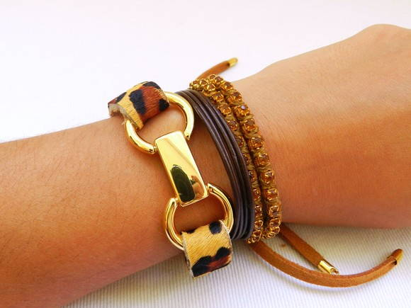 Kit Pulseiras On�a - Print Animal