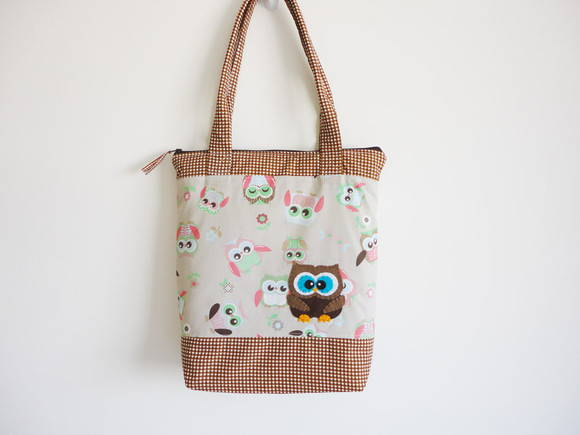 Tote Bag - Corujas Brown