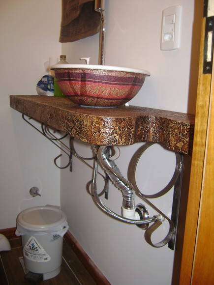 Mesa para cuba de lavabo ou banheiro  Artes Mallmann  Elo7 -> Mesa Para Cuba Banheiro
