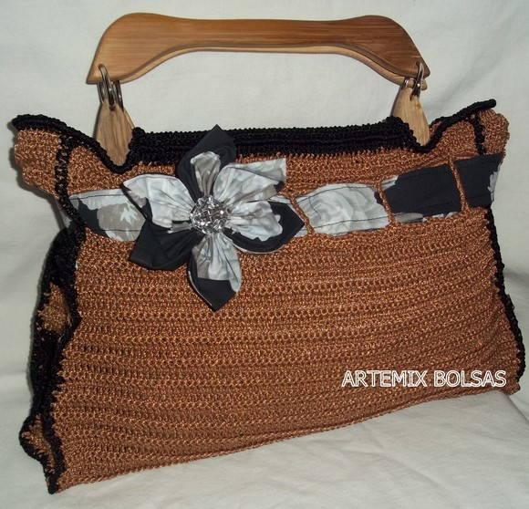 Bolsa De Mao Em Croche : Bolsa de m?o em croch? artemix arte elo