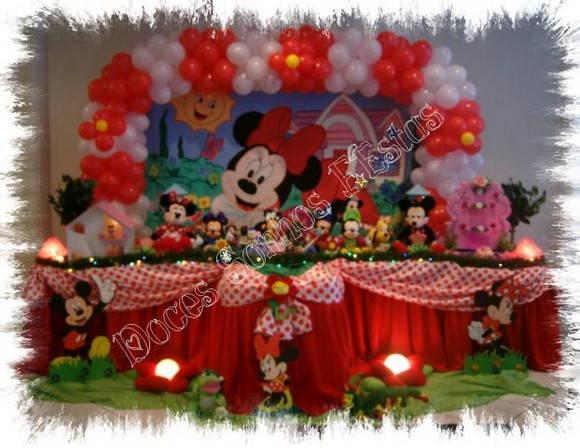Decoraç u00e3o de festa Minnie Vermelha Atelier Doces Sonhos Festas By Vanessa Heckert Elo7 -> Decoraçao De Festa Da Minnie Vermelha Simples