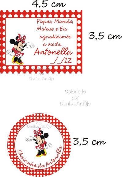 Kit Tag e R�tulo ou Topper Minnie