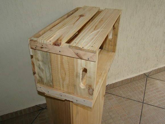 CAIXOTES DE FEIRA  caixotedefeira  Elo7 -> Banheiro Decorado Com Caixote De Feira