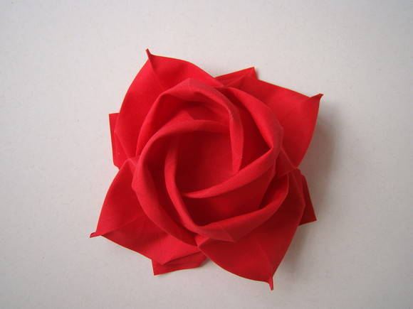 Origami rose without stem