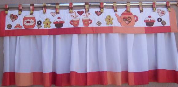 cortina para cozinha artesanal doce