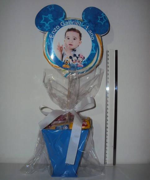 Centro de Mesa Mickey / Baby Disney 35cm | Buquê Bebê | Elo7