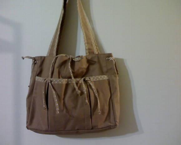 Bolsa De Tecido Forrada : Bolsa em tecido de brim artesanatos j?ka elo