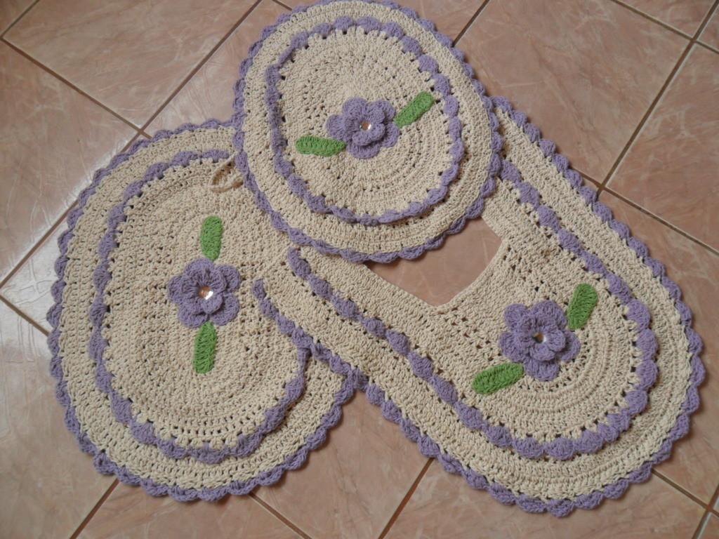JOGO DE BANHEIRO  Artepop  Elo7 -> Banheiro Decorado Com Croche