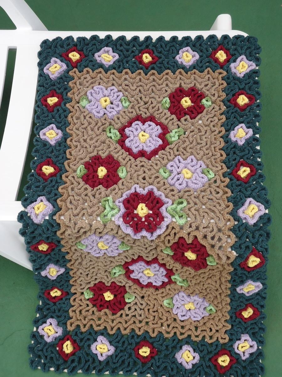 Tapete labirinto floral maria am lia croch elo7 for Tapete floral