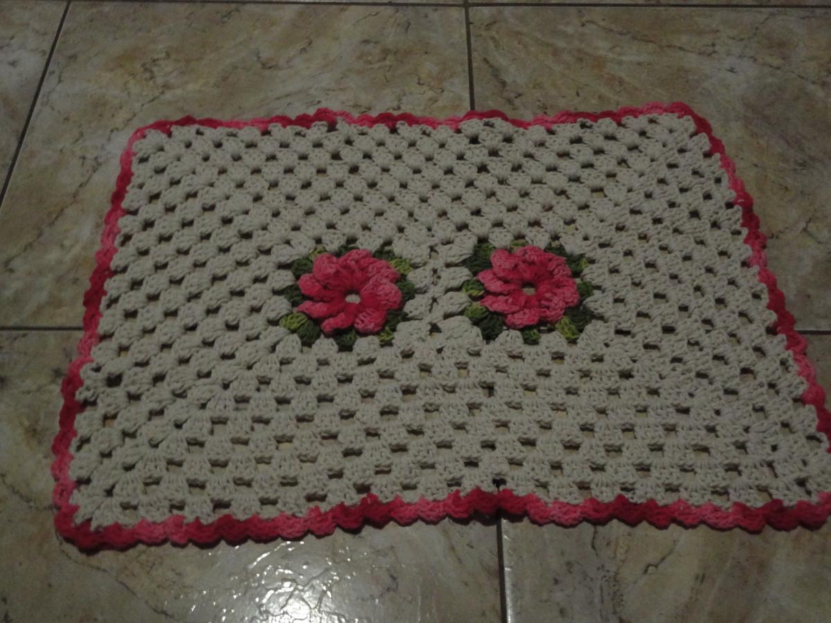 Tapete floral no elo7 de croche 2c0324 for Tapete floral