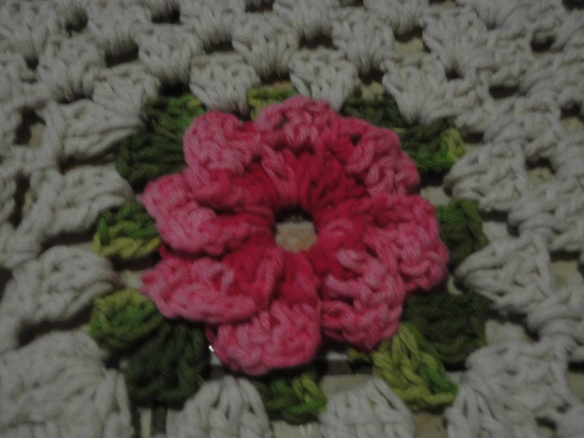 Tapete floral de croche elo7 for Tapete floral